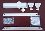 Доводчик Dorma TS 90 Impulse з ковзною тягою з фіксацією (білий), фото 2