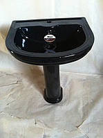 Раковина с пьедесталом Monaco VI3N (черный) Уценка