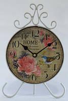 Часы  настольные оригинальные интерьерные  металлические