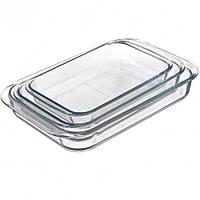 Набор стеклянных жаропрочных противней (3 шт) D1041