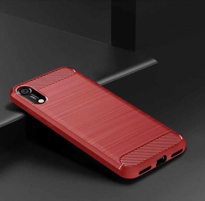 Чехол Carbon для Huawei Y6 2019 Красный