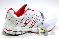 Белые женские кроссовки Bona, White\Red (Бона), фото 3
