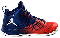 Баскетбольные кроссовки Jordan Super Fly 5 Blake Griffin Blue Red White / Найк Аир Джордан 5