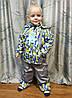 Детский демисезонный комбинезон куртка и штаны для мальчика серый 3-4 года, фото 3