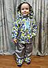Детский демисезонный комбинезон куртка и штаны для мальчика серый 3-4 года, фото 6