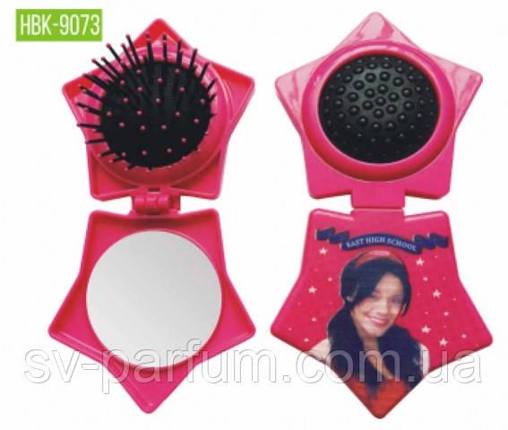 HBK-9073 Детская щетка для волос c зеркалом LUXURY