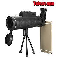 Монокуляр Panda 40x60 с треногой и клипсой для смартфона бинокль