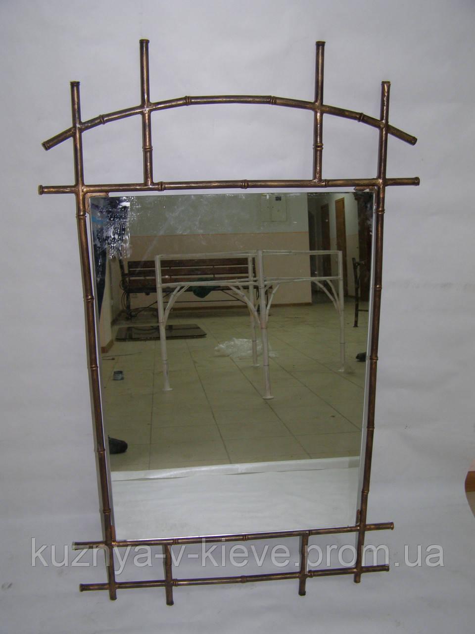 Кованое зеркало Бамбук
