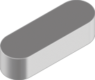 Шпонка призматическая | DIN6885A Шпонка 6x6x60 A4 [N9500000N950606600]