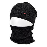Комплект шапка+баф Fila SP1901 черный