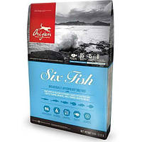 Orijen 6 Fish Dog сухой корм со вкусом рыбы для собак всех пород и возрастов, 2 кг