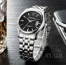 Мужские кварцевые часы Kingnuos (Black)