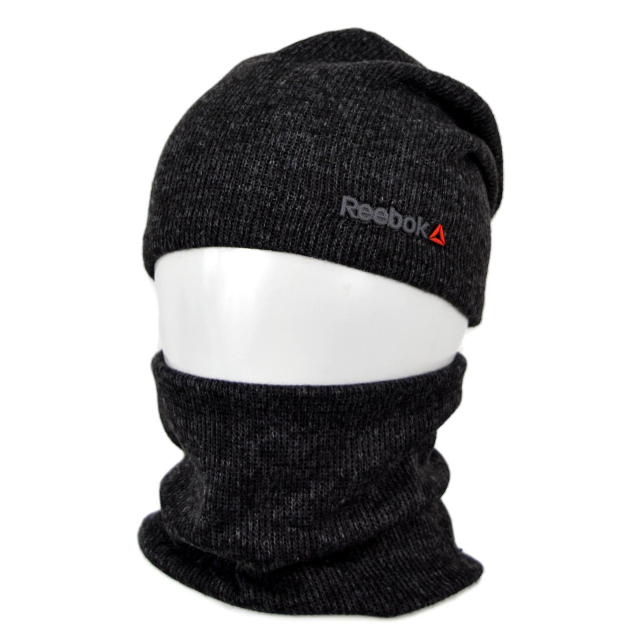 Комплект шапка+баф reebok SP1901 черный