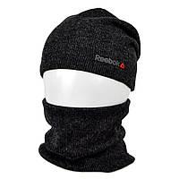 Комплект шапка+баф reebok SP1901 черный, фото 1