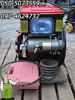 Двигатель к мотоблоку или минитрактору Зубр, Кентавр, Булат, Форте, 8Е л.с.  R 180 HDL  из стартером (водянка)
