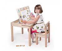 Стол и стульчик детские для рисования (светлый), фото 1
