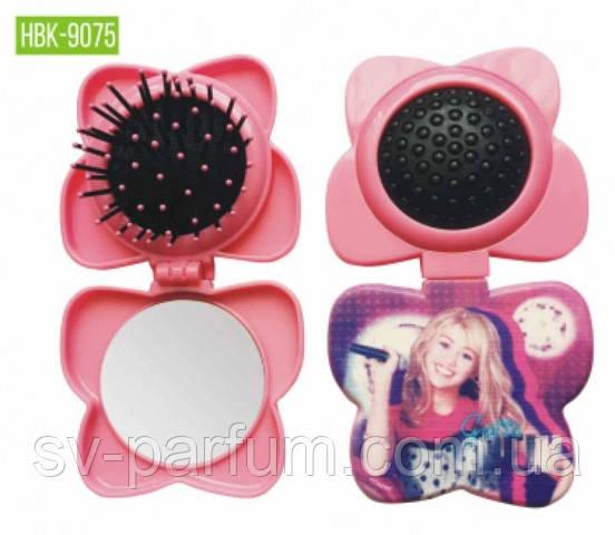 HBK-9075 Детская щетка для волос c зеркалом LUXURY