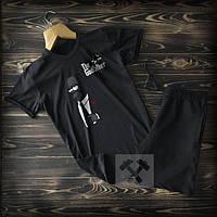 Мужская спортивная одежда / футболка / шорты с принтами / комплект