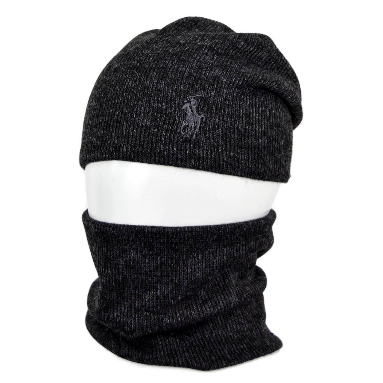 Комплект шапка+баф Polo SP1902 черный