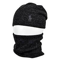Комплект шапка+баф Polo SP1902 черный, фото 1