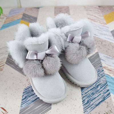 Детские зимние сапожки с натуральным мехом