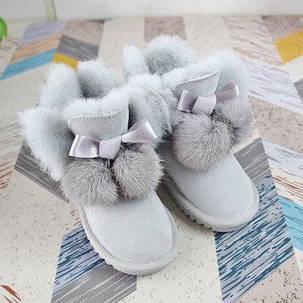 Детские зимние сапожки с натуральным мехом, фото 2