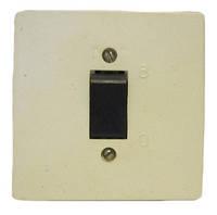 Выключатель внутренний одинарный с чёрной клавишей Харьков 6А 250В, фото 1