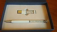 Набор флешка USB и ручка Swarovski в подарочной упаковке. , фото 1