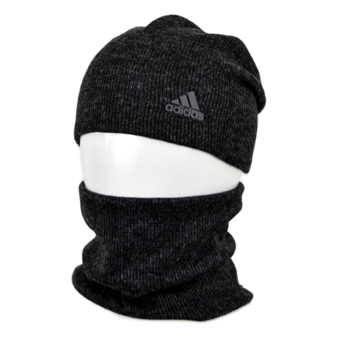 Комплект шапка+баф adidas SP1901 черный