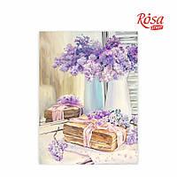Холст на картоне с контуром, Натюрморт № 23, 30*40, хлопок, акрил, ROSA START