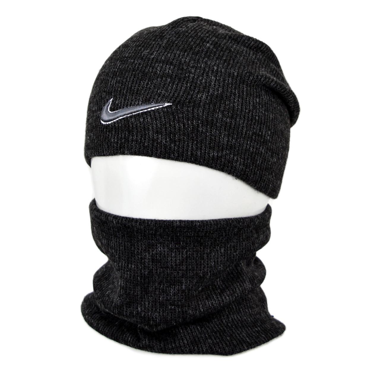 Комплект шапка+баф nike SP1902 черный