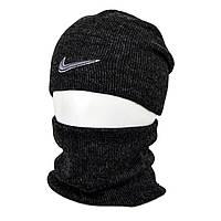 Комплект шапка+баф nike SP1902 черный, фото 1