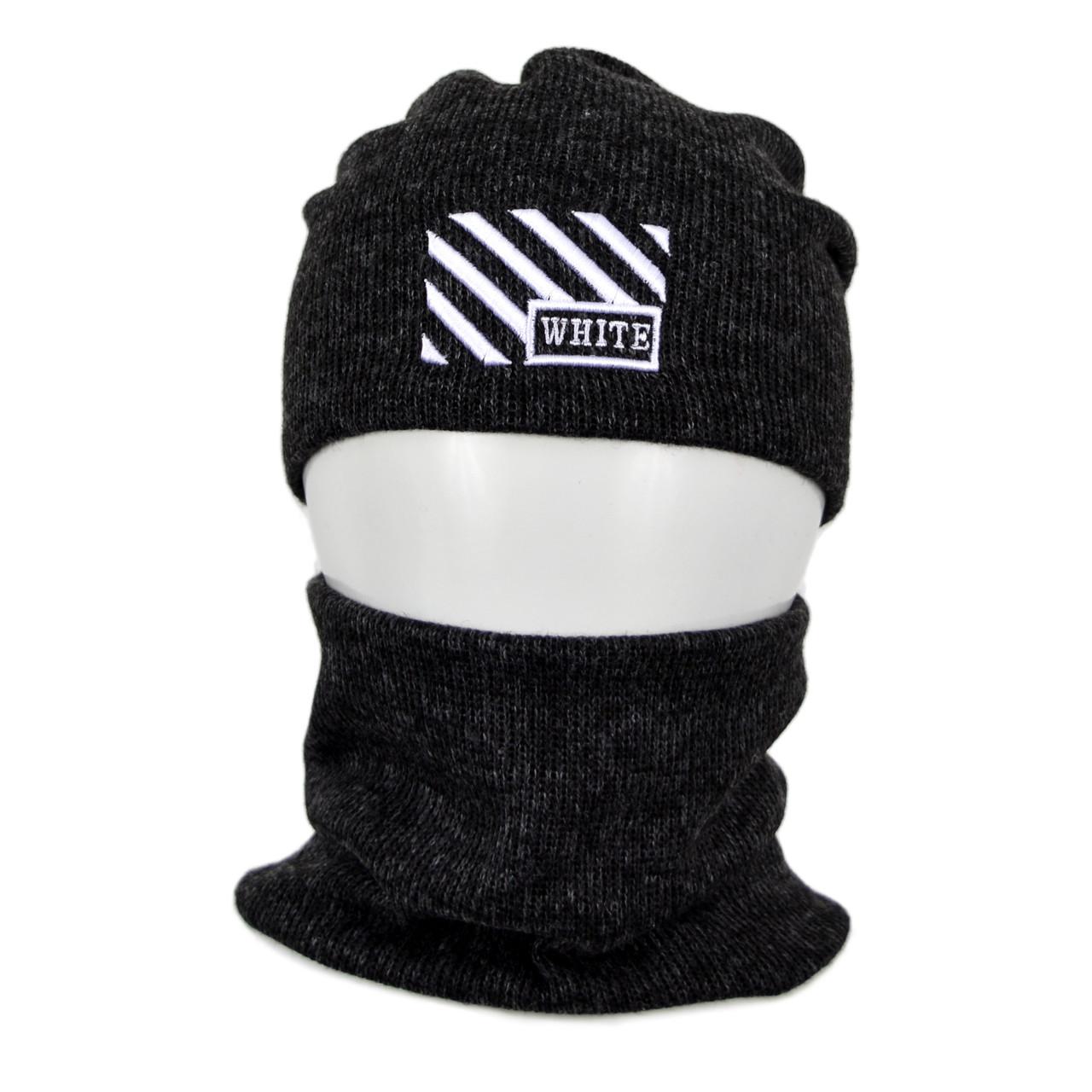 Комплект шапка+баф Off-White SP1902 черный