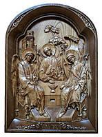 Икона Святая Троица резная из дерева