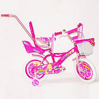 """Велосипед Barbie Beauty 12"""" с ручкой"""