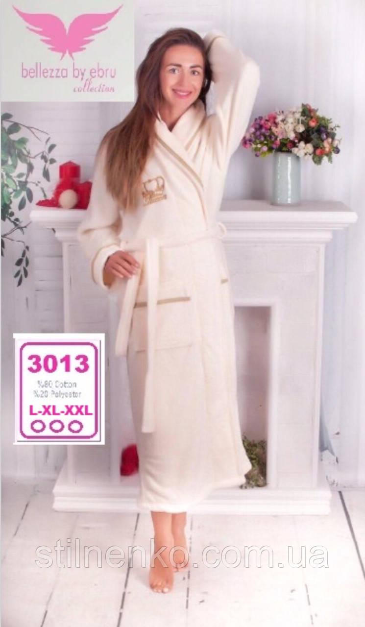Натуральный махровый халат Bellezza