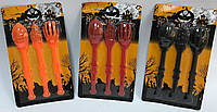 Столовые приборы на Хэллоуин 3 набора (оранжевый, красный, черный), фото 1