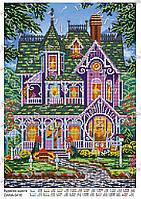 Схема для вышивки бисером Дом счастья