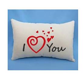 "Подарочная подушка ""I love you"" #A/S"