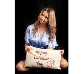 """Подарункова подушка """"Happy valentine's Day"""" #A/S"""