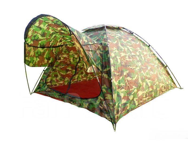 Палатка туристическая летняя 4-х местная(2.4х2.4х1.7)