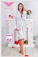 Натуральный махровый халат на запах Bellezza