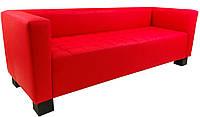 Офисный диван Спейс 210 см красный