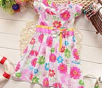 Платье детское летняя с цветочками 4012