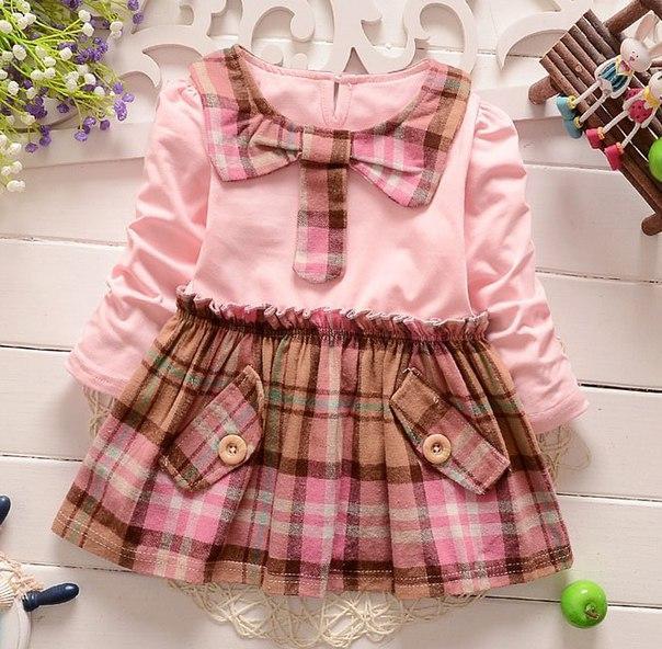 Платье детское розовая 6078