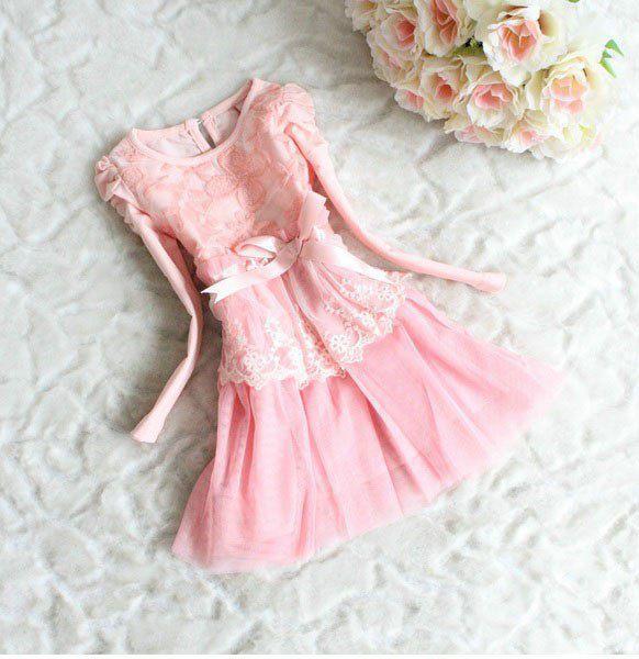 Платье детское розовое 7197
