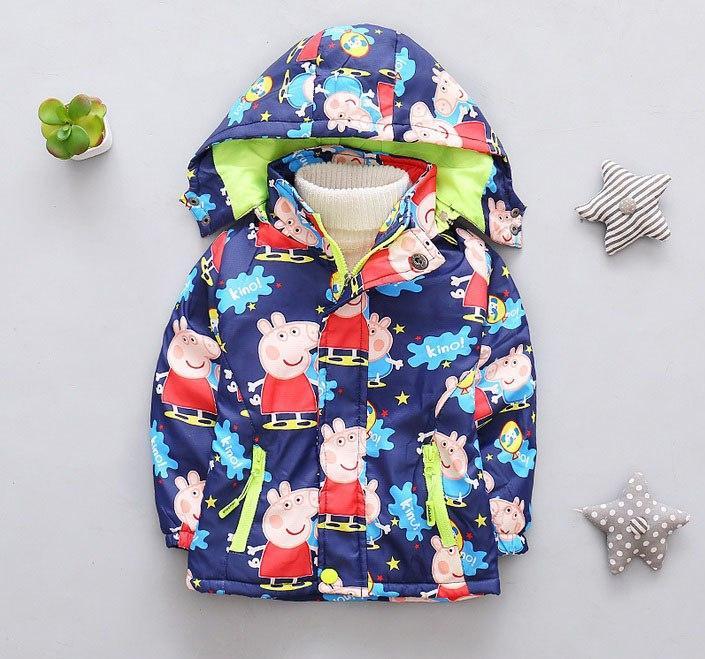 Курточка для девочек свинка  Пеппа ветровка 7418