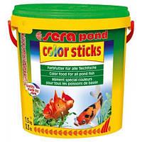 Sera Pond Color Sticks для золотых и других холодноводных рыб в гранулах, 10000 мл