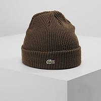 Теплая шапка LACOSTE (ориг.бирка) зеленый