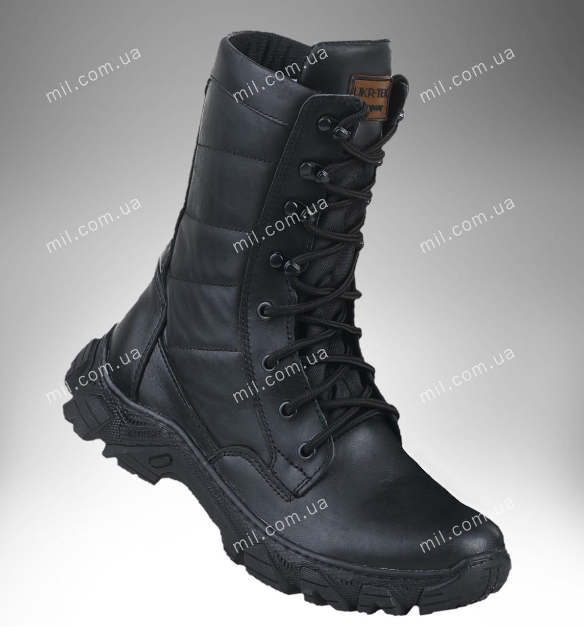 Берцы демисезонные / военная, тактическая обувь ДЕЛЬТА (гладкая кожа)
